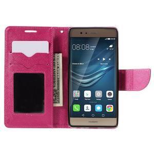 Crossy peněženkové pouzdro na Huawei P9 - rose - 6