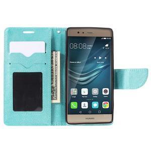 Crossy peněženkové pouzdro na Huawei P9 - modré - 6