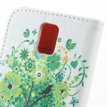 Peněženkové pouzdro na mobil Huawei Y3 a Y360 - zelený strom - 6/6