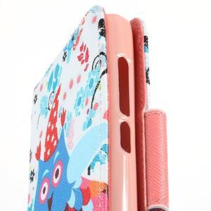 Peněženkové pouzdro na mobil Huawei Y3 a Y360 - sovy a zima - 6