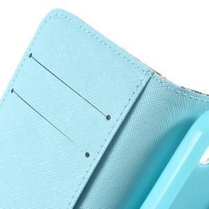 Peněženkové pouzdro na mobil Huawei Y3 a Y360 - modrý motýl - 6