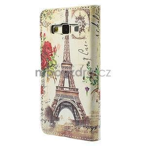 Stylové klopové puzdro na Samsung Galaxy A3 - Eiffel - 6