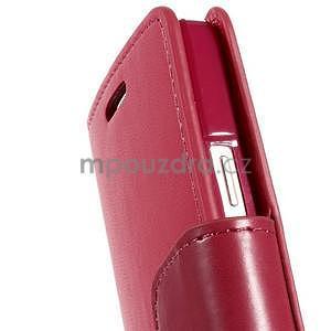 Rose kožené peňaženkové puzdro pre Samsung Galaxy A3 - 6