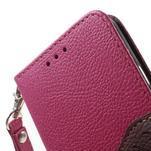 Rose/hnedé kožené puzdro na Samsung Galaxy A3 - 6/7
