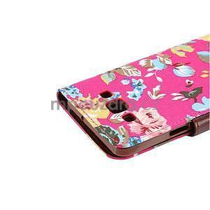 Květinové peňaženkové puzdro na Samsung Galaxy A5 - rose - 6