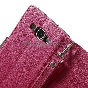 Rose/hnedé kožené puzdro na Samsung Galaxy A5 - 6