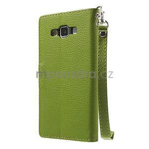 Zelené/hnedé kožené puzdro na Samsung Galaxy A5 - 6
