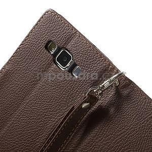 hnedé/zelené kožené puzdro pre Samsung Galaxy A5 - 6