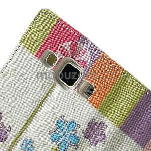 Peňaženkové zapínací puzdro na Samsung Galaxy A5 - farebné květiny - 6