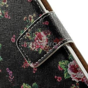 Peňaženkové zapínací puzdro na Samsung Galaxy A5 - růže - 6