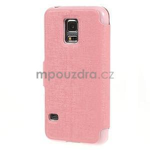 Růžové zapínací pouzdro na Samsung Galaxy S5 mini - 6