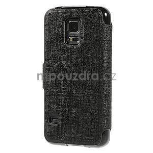 Černé zapínací pouzdro na Samsung Galaxy S5 mini - 6