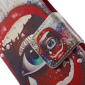 Zapínací peňaženkové puzdro pre Samsung Galaxy S5 mini - oko - 6