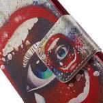 Zapínací peňaženkové puzdro pre Samsung Galaxy S5 mini - oko - 6/7