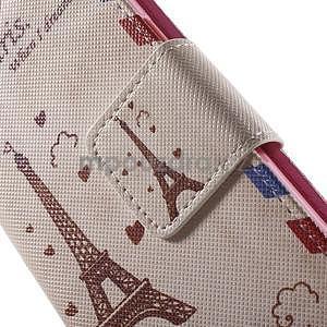 Zapínací peněženkové pouzdro na Samsung Galaxy S5 mini - Eiffelova věž - 6