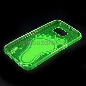 Protiskluzový gélový kryt pre Samsung Galaxy S6 - zelený - 6