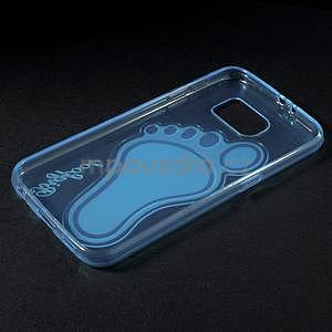 Protiskluzový gélový kryt pre Samsung Galaxy S6 - modrý - 6
