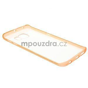 Oranžový hybridný gélový obal na Samsung Galaxy S6 Edge - 6