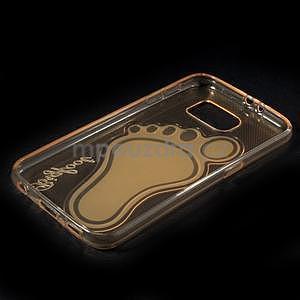 Protiskluzový gélový kryt pre Samsung Galaxy S6 - zlatý - 6