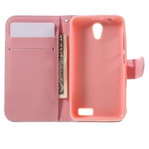 Styles peňaženkové puzdro pre mobil Lenovo A319 - kvetiny - 6