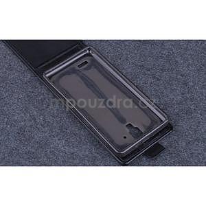 PU kožené flipové puzdro na Lenovo A536 - čierne - 6