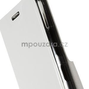 Peňaženkové PU kožené puzdro na Lenovo A6000 -  biele - 6