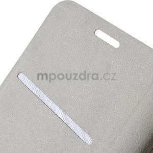 Peňaženkové PU kožené puzdro na Lenovo A6000 - rose - 6