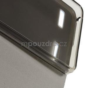 Peňaženkové PU kožené puzdro na Lenovo A6000 -  modré - 6