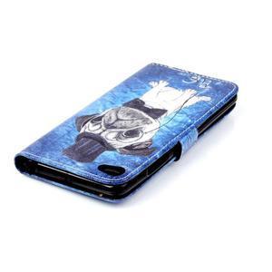 Style peňaženkové puzdro pre mobil Lenovo S90 - mops - 6