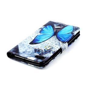 Style peněženkové pouzdro na mobil Lenovo S90 - modrý motýl - 6