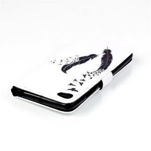 Style peněženkové pouzdro na mobil Lenovo S90 - ptačí peříčka - 6