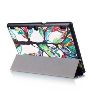 Polohovatelné pouzdro na tablet Lenovo Tab 2 A10-70 - malovaný strom - 6