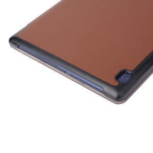 Trifold polohovatelné puzdro pre Lenovo Tab 2 A10-70 - hnedé - 6