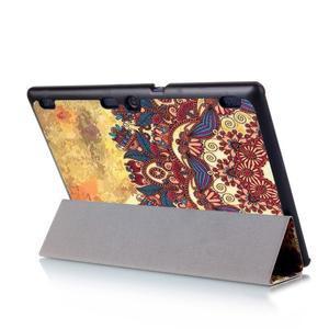 Polohovatelné puzdro pre tablet Lenovo Tab 2 A10-70 - vintage kvetiny - 6