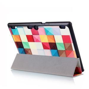 Polohovatelné puzdro pre tablet Lenovo Tab 2 A10-70 - farebné kostky - 6
