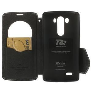 Diary puzdro s okienkom na mobil LG G3 - biele - 6