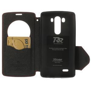 Diary pouzdro s okýnkem na mobil LG G3 - červené - 6