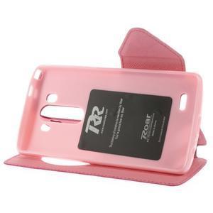 Diary puzdro s okienkom na mobil LG G3 - rose - 6