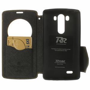 Diary pouzdro s okýnkem na mobil LG G3 - žluté - 6