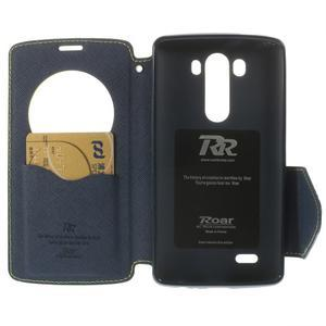 Diary pouzdro s okýnkem na mobil LG G3 - zelené - 6