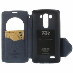 Diary puzdro s okienkom na mobil LG G3 - svetlomodré - 6