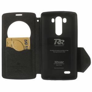 Diary puzdro s okienkom na mobil LG G3 - tmavomodré - 6