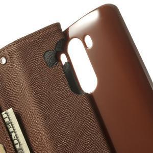 Goos peňaženkové puzdro pre LG G3 - čierne/hnedé - 6