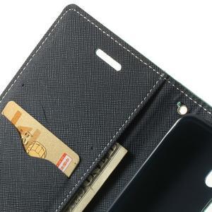 Goos peněženkové pouzdro na LG G3 - cyan - 6