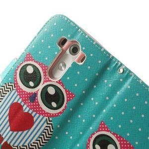 Ultra motive peňaženkové puzdro pre LG G3 - zamilovaná sova - 6