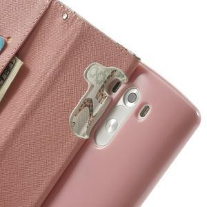 Ultra motive peňaženkové puzdro pre LG G3 - žirafy - 6