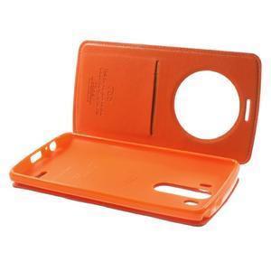 Roar peňaženkové puzdro s okienkom na LG G3 - oranžové - 6