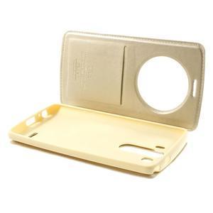 Roar peněženkové pouzdro s okýnkem na LG G3 - zlaté - 6