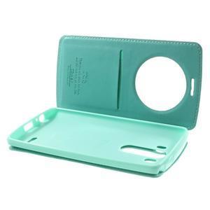 Roar peněženkové pouzdro s okýnkem na LG G3 - cyan - 6