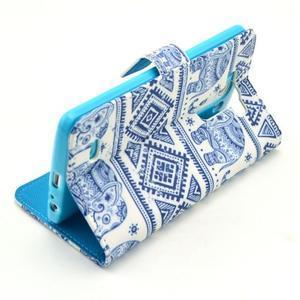 Obrázkové puzdro pre mobil LG G3 - modří sloni - 6